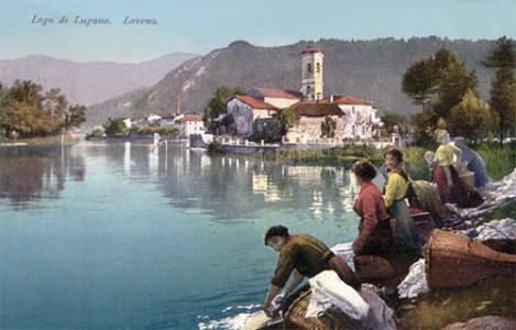 PK: Wäscherinnen am Seeufer bei Lavena