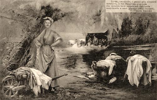 Wäscherinnen am Fluss