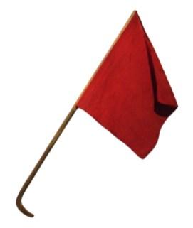 Farbfoto: rote Signalflagge
