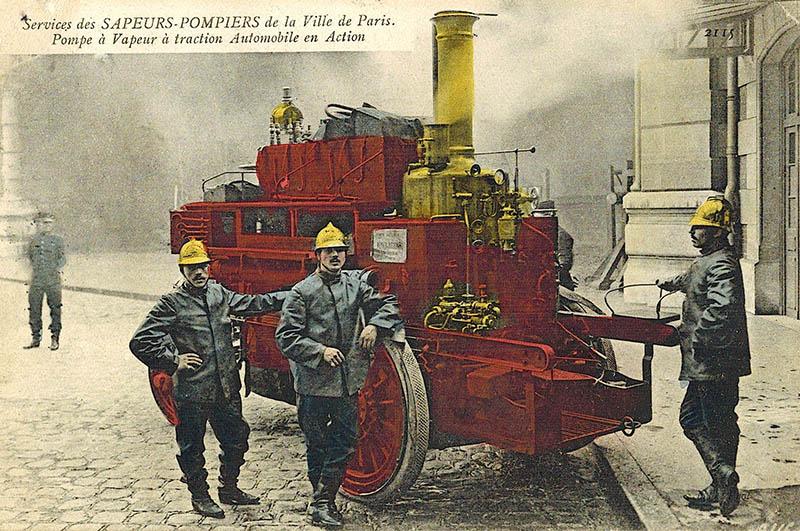 alte AK: Feuerwehr mit Gerät