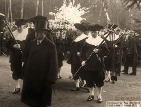 sw Foto: Sargträger im Reitendiener-Ornat - 1933, Hamburg