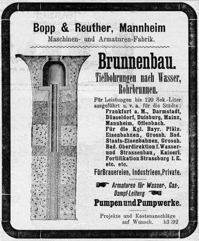 Anzeige für Tiefbohrungen für Rohrbrunnen