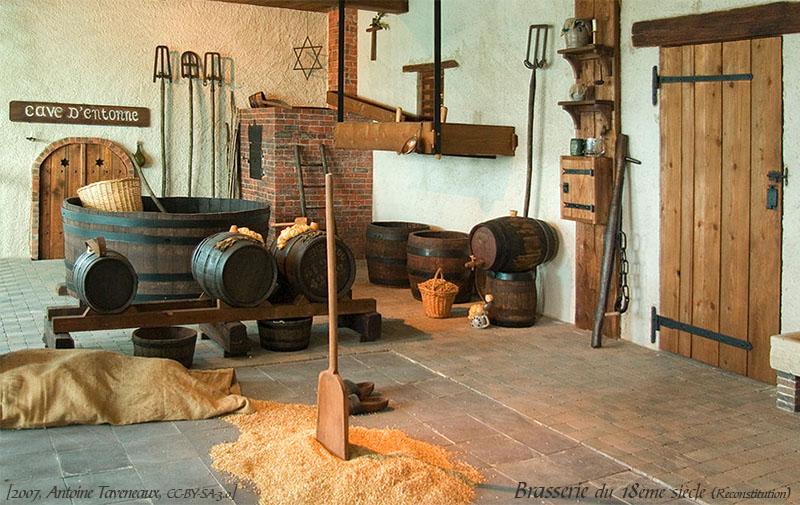 Farbfoto: Rekonstruktion einer Brauerei des 18.Jh.