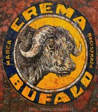 Farbfoto: alte Reklame für Büffelschmiere