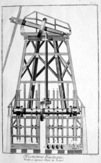 technische Zeichnung: Ölmühle