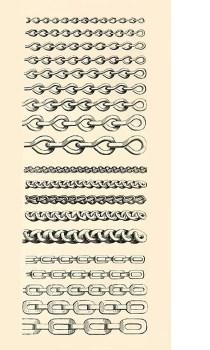 Zeichnung: verschiedene Kettenarten