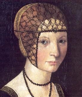 Gemälde: Portrait der jungen Anna mit Schmuckhaarnetz