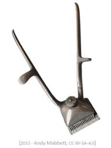 Farbfoto: Haarschneider aus Metall