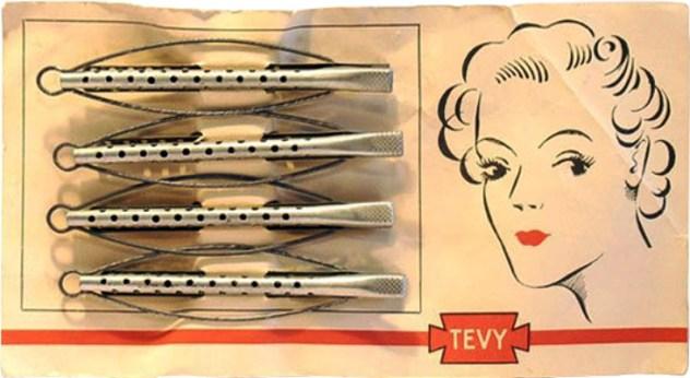 Farbfoto: Produktkarte + 4 Aluwickler mit Spannbügeln