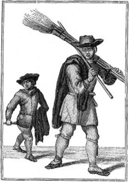 Schornsteinfeger mit Jungen