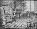 Stich: zwei Arbeiter in einer Werkstatt