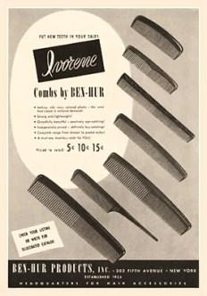sw Werbung für Kämme - 1947, USA