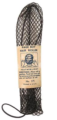 Farbfoto: langer Drahtgitterwickler mit Banderole - 1930, USA