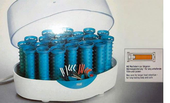 Farbfoto: Wickler im Aufwärmbehälter mit Elektroanschluss