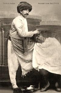 sw Postkarte: Türkischer Straßenbarbier - 1890