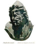 römische Bronzebüste des Vulcanus