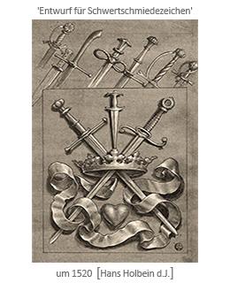 um1520 - 'Entwurf für Schwertschmiedezeichen' [Hans Holbein d.J.]