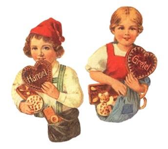 2 Oblaten(büsten)bilder: beide haben Tascher voller Lebkuchen und Herz mit ihrem Namen in der Hand - 1890