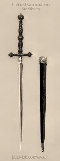 sw Foto: Stilett mit langem verziertem Griff - 1850