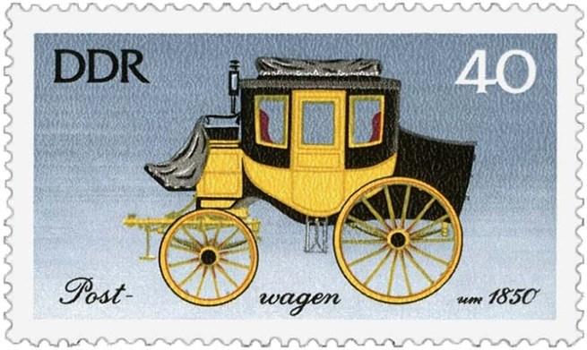 Briefmarke: Postkutsche für vier Personen