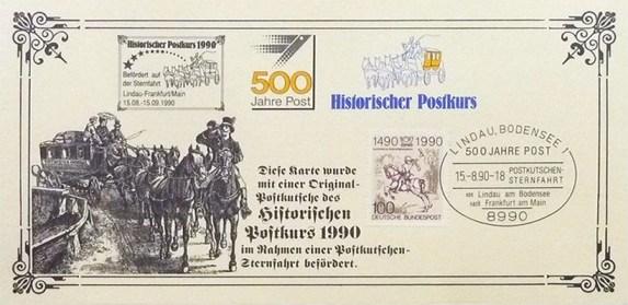 Fahrkarte für Postkutschen-Sternfahrt auf historischer Postlinie