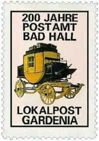 Briefmarke: gelbe Postkutsche