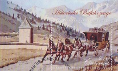 Briefmarke: Postkutsche mit vier Pferden
