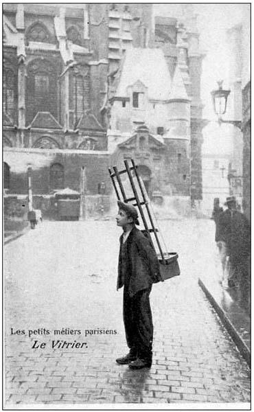 sw-Foto: Glashändler auf der Straße