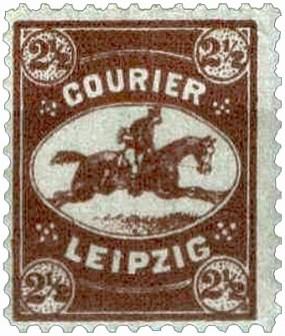 Marke mit reitendem Courier - 1890