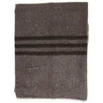 Farbfoto: Wolldecke mit Randstreifen