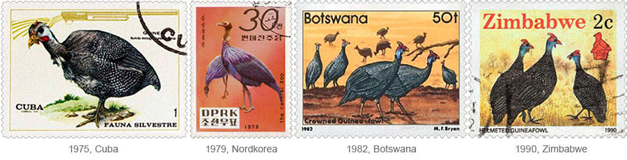 Briefmarken: Perlhühner