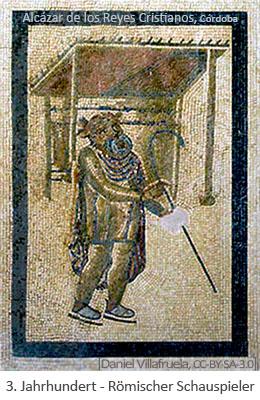 Mosaik: Römischer Schauspieler - 3.Jh