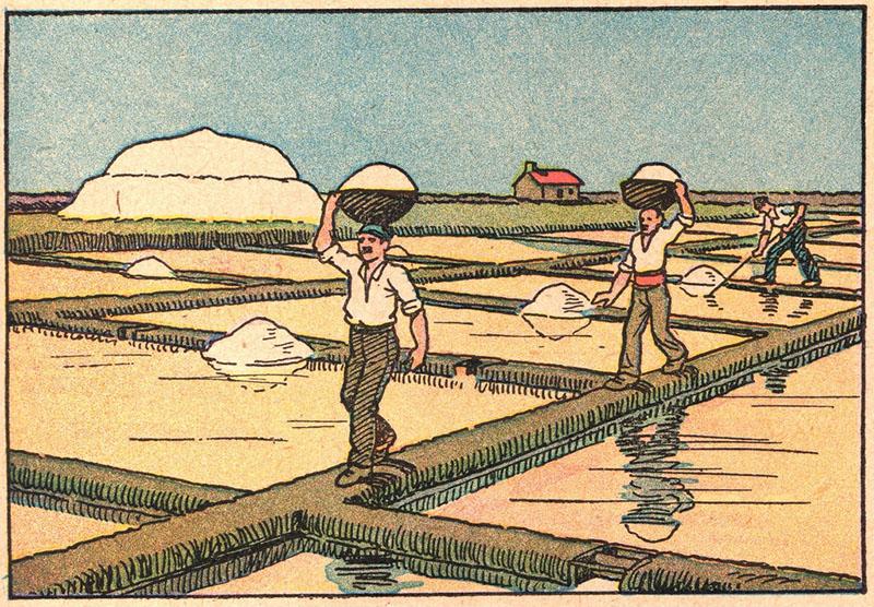 illu: Arbeit bei der Saline