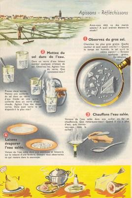 alte französische Schulbuchseite zum Thema Salz