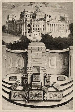 satirische Künstlerkarte: 'Zur Erinnerung an das letzte steuerfreie Streichholz' - 1909