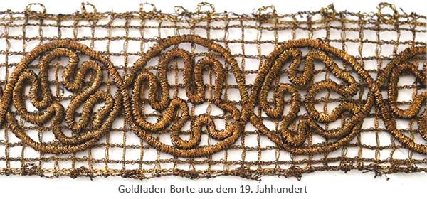 Farbfoto: Goldfaden-Borte - 19. Jh