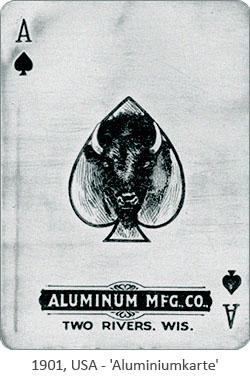 Foto: Aluminiumkarte - 1901, USA