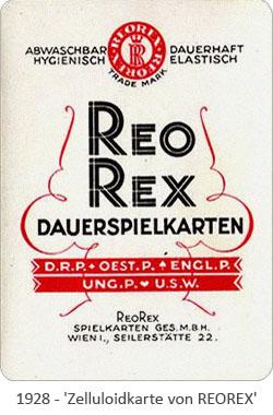 Foto: Zelluloidkarte von REOREX - 1928, AT