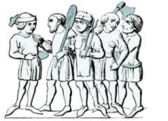 kl. illu: 5 Handwerker - 14. Jh