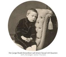 sw Foto: der junge Amundsen auf Sessel mit Quasten - 1875, NO