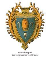 Gildewappen der Essigmacher von Orléans - 1580, Frankreich