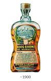 Farbfoto: Glasflasche mit 60%iger Essig-Essenz ~1900