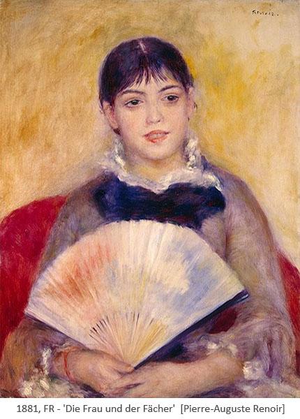Gemälde: Die Frau und der Fächer - 1881, FR