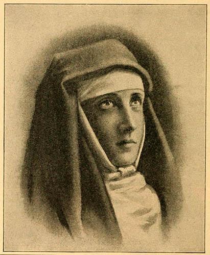 Zeichnung: Nonnenportrait