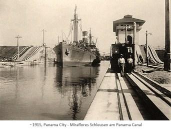 sw Foto: Miraflores Schleusen am Panama Canal ~1915, Panama City