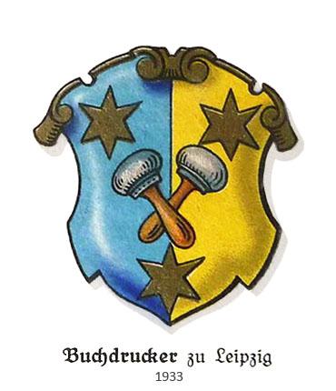 Wappen der Buchdrucker zu Leipzig - 1933