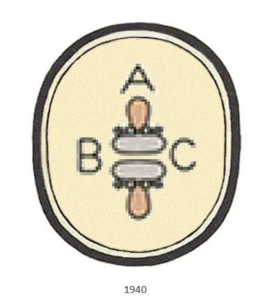 Buchdrucker-Berufszeichen - 1940