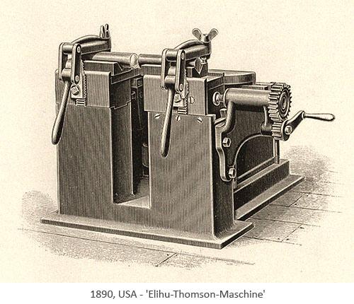 Zeichnung: Elihu-Thomson-Maschine - 1890, USA