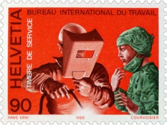 Briefmarke: Schweißer - 1988, Schweiz