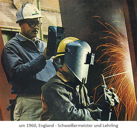 Poster: Schweißermeister und Lehrling ~1960, GB